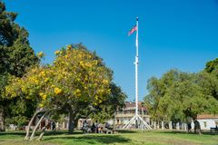 Beautiful Plaza de Las Armas στην ιστορική παλαιά πόλη Στοκ φωτογραφία με δικαίωμα ελεύθερης χρήσης