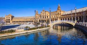 Beautiful plaza Espana in Seviglia, Andalusia Stock Image