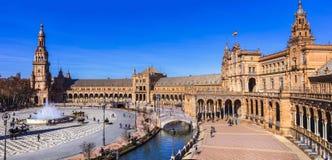 Beautiful plaza Espana in Seviglia Royalty Free Stock Photos