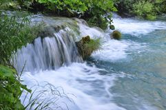 Beautiful Plitvice Waterfall Stock Photo