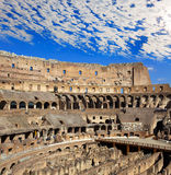 Beautiful plumose clouds over the ancient Colosseum. Rome. Stock Image