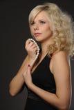 Beautiful plump girl Stock Photos