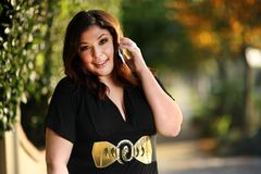 Beautiful plus size model Stock Photography