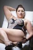 Beautiful plus size woman Stock Photos