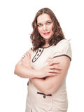 Beautiful plus size woman portrait Stock Photo