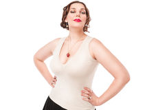 Beautiful  plus size woman Royalty Free Stock Images