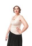 Beautiful plus size woman Royalty Free Stock Image
