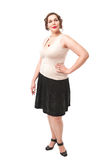 Beautiful plus size woman Stock Images