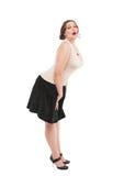 Beautiful plus size woman Royalty Free Stock Photo