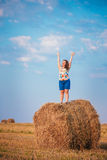 Beautiful Plus Size Young Woman Girl Is Standing Royalty Free Stock Photos