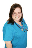 Beautiful Plus-sized Nurse Royalty Free Stock Photography
