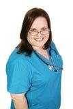 Beautiful Plus-sized Nurse Royalty Free Stock Photography