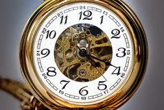 Beautiful pocket clock Royalty Free Stock Photography