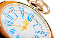 Beautiful pocket watch  with gold hands Stock Images