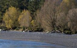 Beautiful Poerua river, southern island New Zealand Royalty Free Stock Images