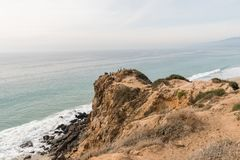 Beautiful Point Dume vista in winter, Malibu, California. Beautiful Point Dume coastal vista in winter, Malibu, Southern California Royalty Free Stock Photo