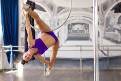 Beautiful pole dancer Stock Image