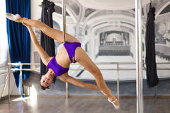 Beautiful pole dancer Stock Photo