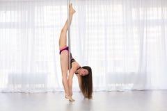 Beautiful pole dancer Stock Photos