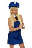 Beautiful police girl stock photography
