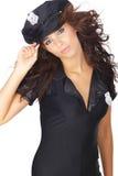 Beautiful police girl Royalty Free Stock Image