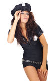 Beautiful police girl Royalty Free Stock Images