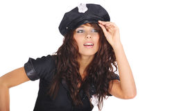 Beautiful police girl Royalty Free Stock Photo