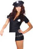 Beautiful police girl Stock Photo
