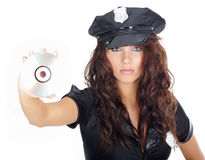 Beautiful police girl Royalty Free Stock Photography