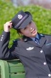 Beautiful policewoman Stock Photo