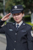 Beautiful policewoman Stock Photography
