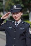 Beautiful policewoman Stock Photography