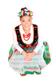 Beautiful Polish girl in traditional clothes Royalty Free Stock Photos