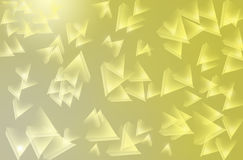 Beautiful polygon. On white and yellow Royalty Free Stock Photos