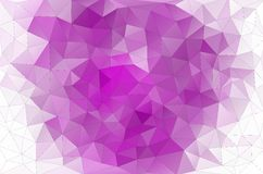 Beautiful polygonal background in fuchsia Stock Images