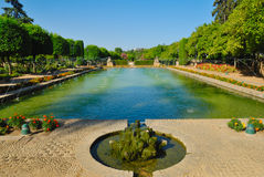 Beautiful pond Cordoba Alcazar Royalty Free Stock Photo