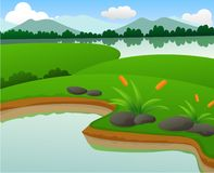 Beautiful Pond And Lake Nature Landscapes Stock Image