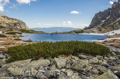 Beautiful Pond in the Mountains royalty free stock images