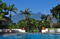 Beautiful pool near the mountain Royalty Free Stock Image