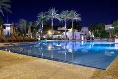 Beautiful pool at night Stock Photos