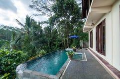 Beautiful pool outdoor Royalty Free Stock Photos