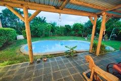 Beautiful pool in tropical environment stock photo