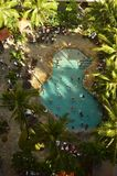 Beautiful Pool View from the Air. Royalty Free Stock Photo