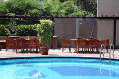 Beautiful Poolside Arrangement Royalty Free Stock Images