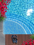 Beautiful poolside holiday scene Royalty Free Stock Photography