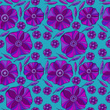 Beautiful Poppy Flowers set, Colorful Vector seamless pattern. Stock Images