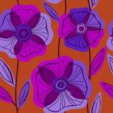 Beautiful Poppy Flowers set, Colorful Vector seamless pattern. Stock Photo