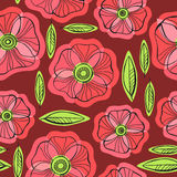 Beautiful Poppy Flowers set, Colorful Vector seamless pattern. Poppy Flowers set, Colorful Vector seamless pattern Royalty Free Stock Photography