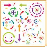 Beautiful popular arrow sign symbol icon set Royalty Free Stock Images