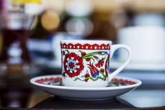 Beautiful porcelain cup of coffee Royalty Free Stock Photos